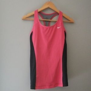 NIKE Dri-Fit Racerback Tank with Shelf bra, size L